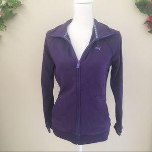 PUMA Purple Zipup Sport Jacket Size Medium M